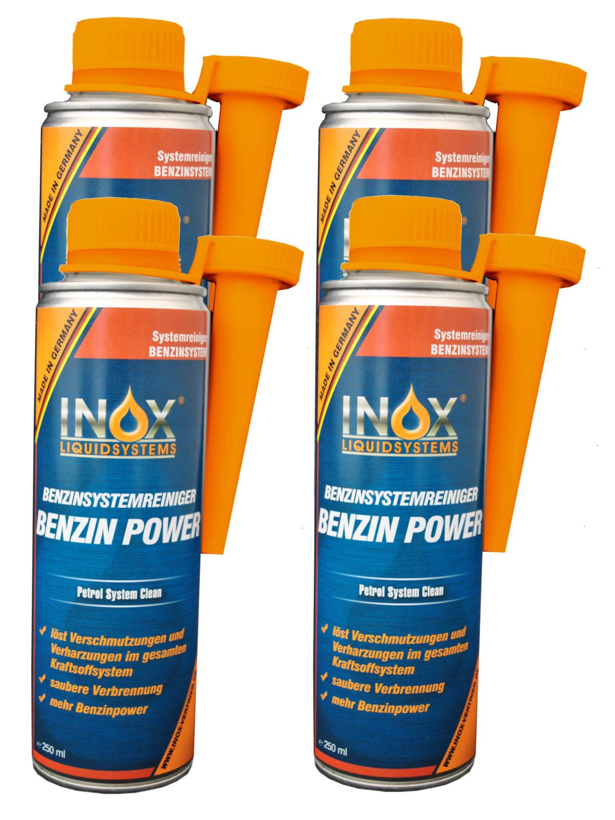 inox fuel system clean benzin power reiniger und schutz 4x. Black Bedroom Furniture Sets. Home Design Ideas